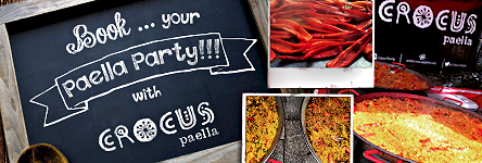 Book your Paella Party with Crocus Paella