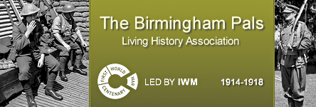 Link to the The Birmingham Pals Living History Association website