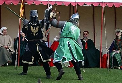 Link to the Knights in Battle Medieval Society website