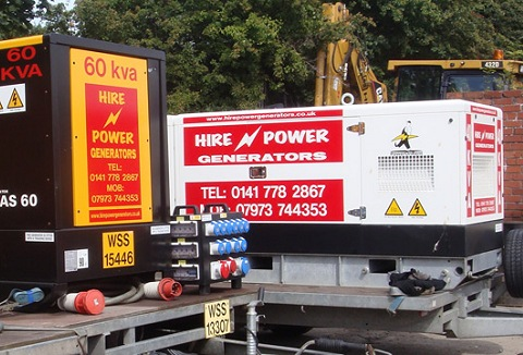 Link to the Hire Power Generators website