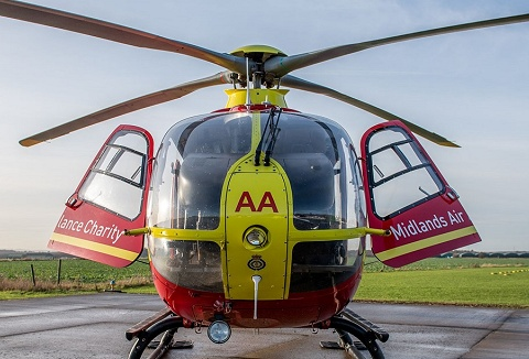 Link to the Midlands Air Ambulance Charity website