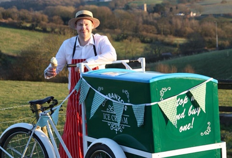 Link to the Garbanzo's Ice Cream Hire website