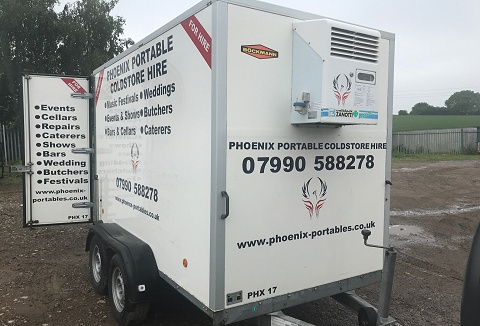 Link to the Phoenix Portable Coldstore Hire website